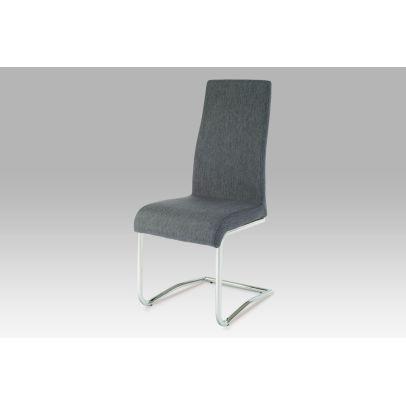 jedálenská stolička, látka sivá, chróm AC-1950 GREY2