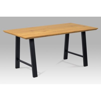 Dining table, Top: MDF, paper wild oak color, Frame:powder coating,black matt HT-715 OAK