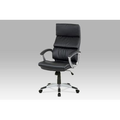 Kancelárske kreslo, koženka čierna, hojdací mechanizmus KA-A196 BK