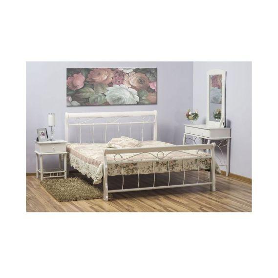 posteľ Venecja 180x200 s roštom biela