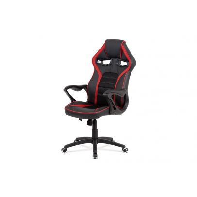 office chair/BLACK PU/RED MESH STRIPES, BLACK MESH SEAT & BACK MIDDLE PART KA-G406 RED