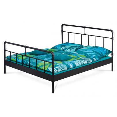 metal bed, without the slats, mattress size 200x180, black powder coating BED-1924 BK